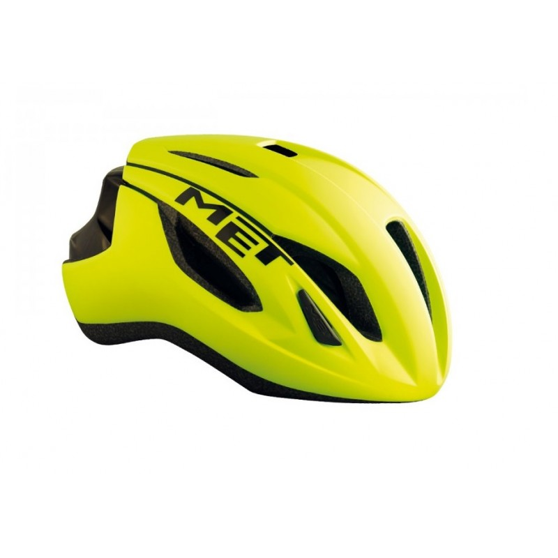 MET Strale Road Cycling Helmet Safety Yellow Black Glossy 2019