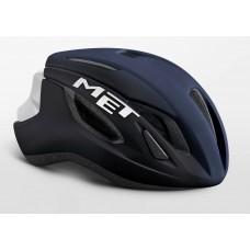 MET Strale Road Cycling Helmet Shaded Deep Blue White Matt Glossy 2019