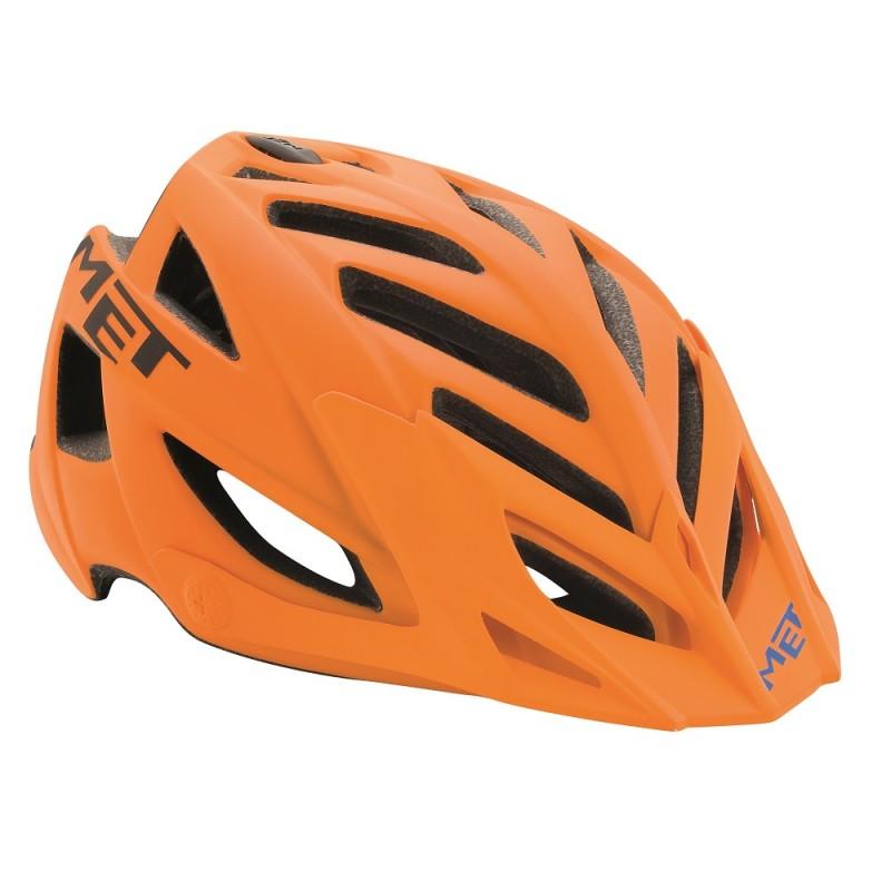 MET Terra Mountain Bike Helmet Matt Orange-Black 2017