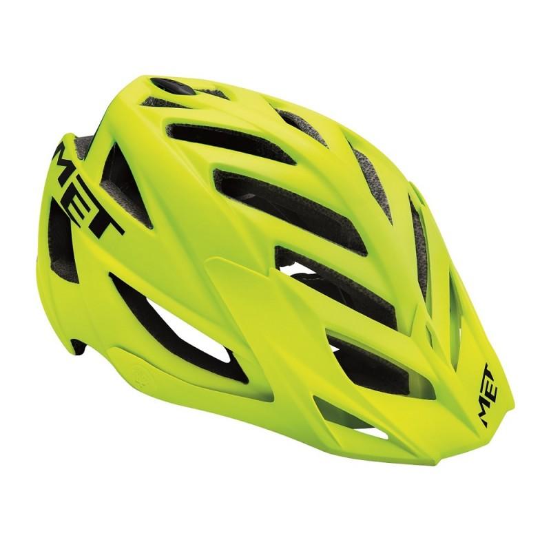 MET Terra Mountain Bike Helmet Matt Yellow Fluo-Black 2017