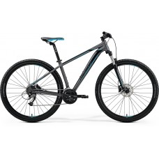 Merida Big Nine 40-D Mountain Bike 2019 Matt Dark Silver (Blue/Black)
