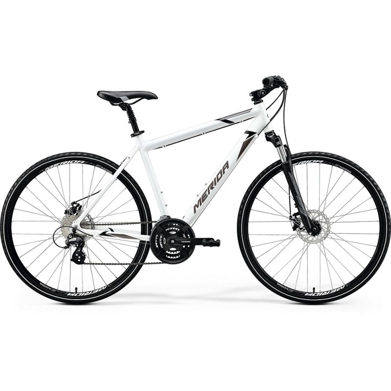Merida Crossway 15 MD Hybrid Bike 2020 Glossy White (Black/Grey)