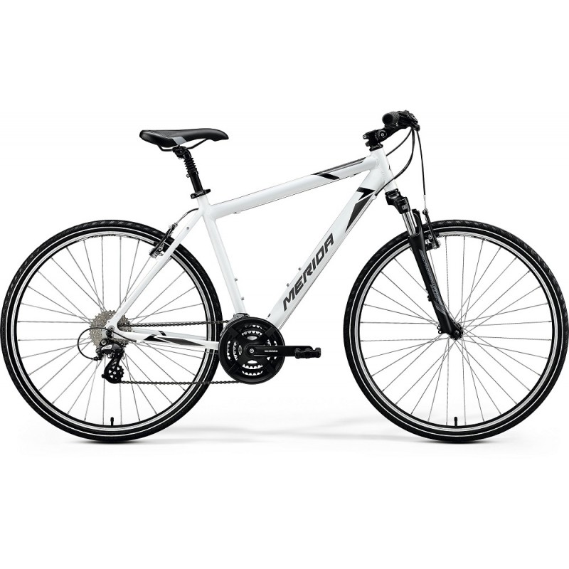Merida Crossway 15 V Hybrid Bike 2020 Glossy White (Black/Grey)