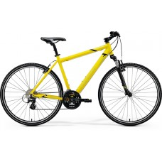 Merida Crossway 15 V Hybrid Bike 2020 Silk Bright Yellow (Black)