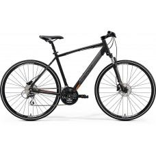 Merida Crossway 20-D Hybrid Bike 2019 Matt Black (Orange)