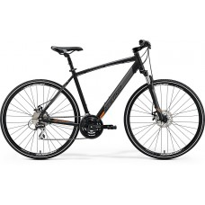 Merida Crossway 20-MD Hybrid Bike 2019 Matt Black (Orange)