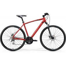 Merida Crossway 20 MD Hybrid Bike 2020 Matt Xmas Red (Black/Dark Red)
