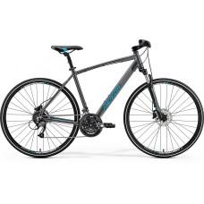 Merida Crossway 40-D Hybrid Bike 2019 Dark Silver (Blue)