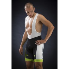 Merida Green Race Design 6 Panel Bib Short