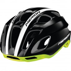 Merida Team Race AR3 Road Bike Helmet Glossy Black-Green