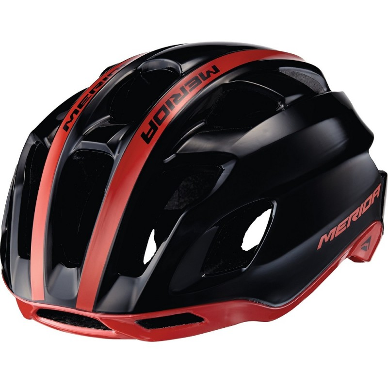 Merida Team Race AR3 Road Bike Helmet Glossy Black-Red