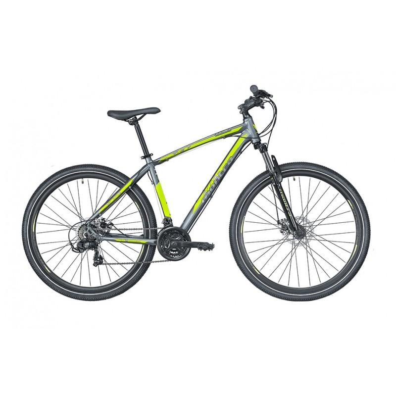 Montra Backbeat 26 MTB Bike 2019 Graphite Grey With Neon Yellow Graphics