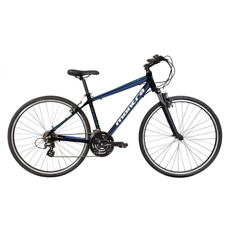 Montra Blues 1.1 Hybrid Bike 2018 Black With Blue Graphics