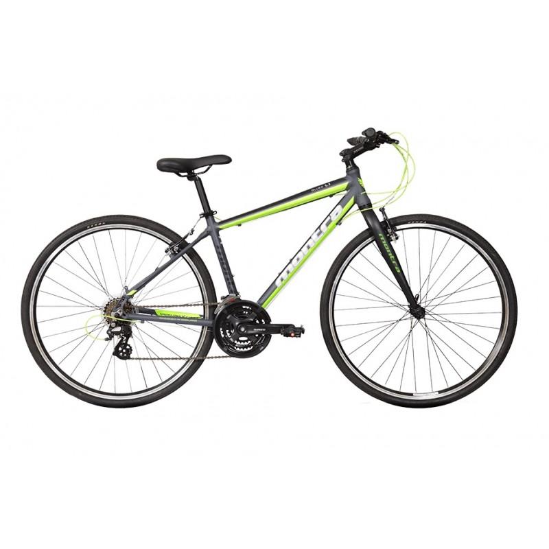 Montra Blues Rigid Hybrid Bike 2018 Semi Matte Grey With Green/White Graphics