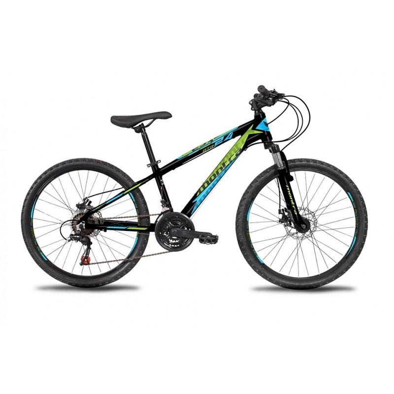 Montra DTR 24 Kids Bike 2019 Charcoal Black With Fresh Green/Cyan Graphics
