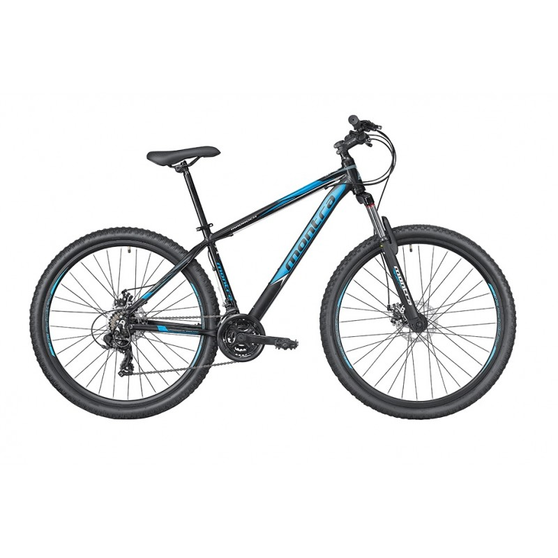 Montra Madrock 29 MTB Bike 2019 Charcoal Black With Cyan Graphics