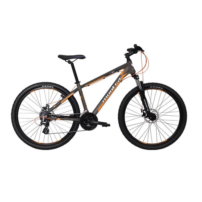 Montra Rock 2.1 (27.5) MTB Bike 2018 Matte Grey With Blue/Orange Graphics
