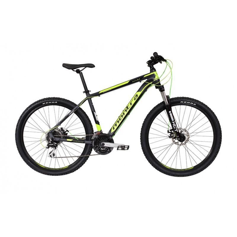 Montra Rock 4.1 (27.5) MTB Bike 2018 Semi Matte Grey With Green Graphics