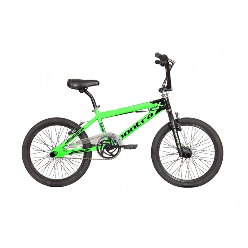 Montra Spinto BMX Bike 2018 Neon Green With Black Blue Graphics