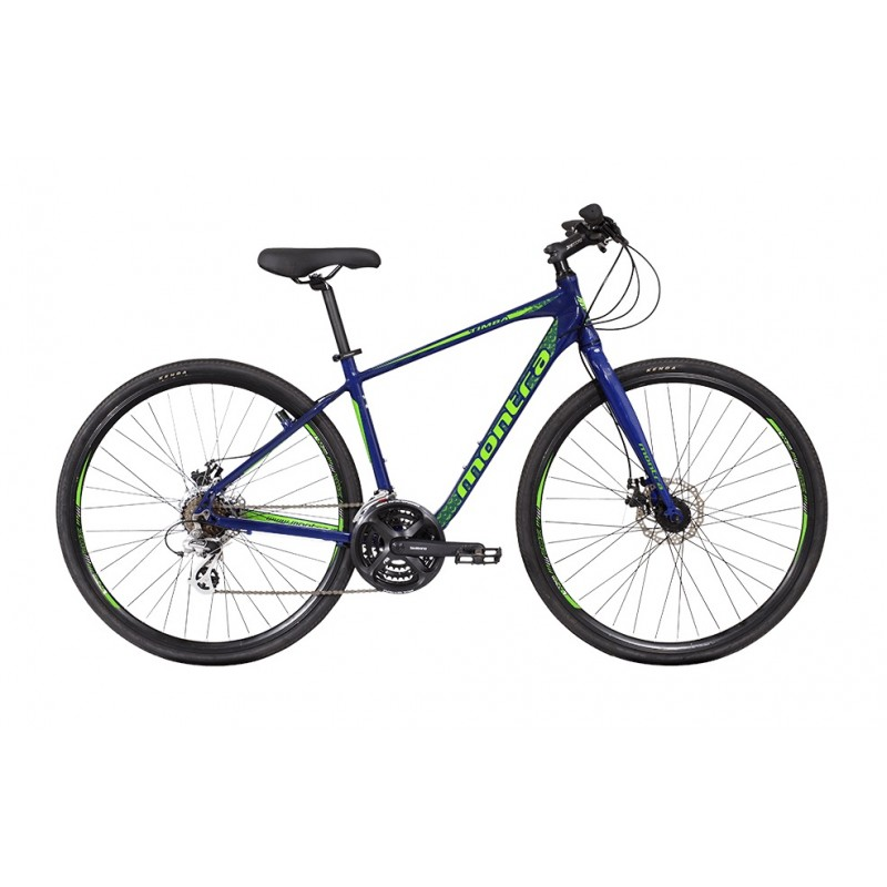 Montra Timba Hybrid Bike 2018 Prussian Blue With Green Graphics