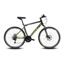 Montra Trance Hybrid Bike 2019 Carbon Black With Graphite Grey/Neon Yellow Graphics