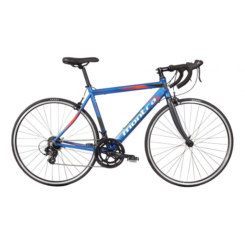 Montra Unplugged Road Bike 2018 Dark Blue With Red Grey Graphics