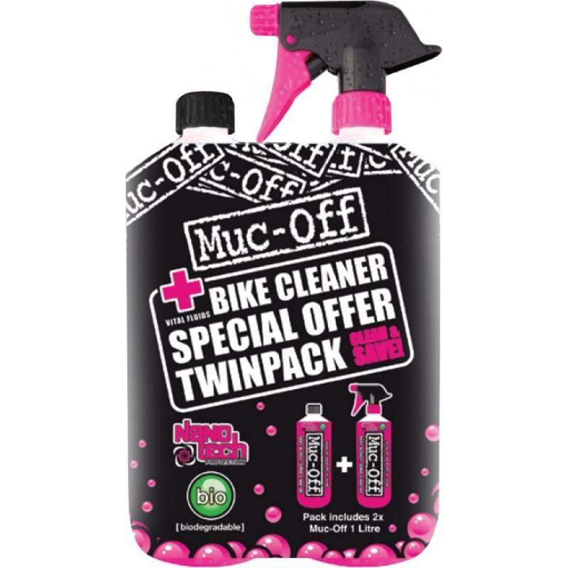 Muc Off Bike Cleaner 1L Twin Pack