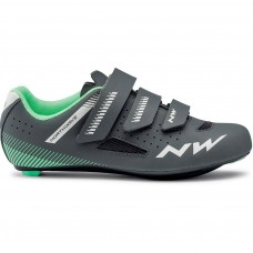 Northwave Core Women Cycling Shoes Anthra Light Green