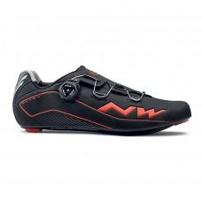 Northwave Flash Cycling Shoes Black Lobster Orange