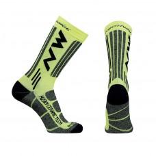 Northwave Husky Ceramic Tech 2 High Socks Yellow Fluo