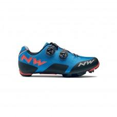 Northwave Rebel Cycling Shoes Blue Lobster Orange