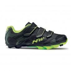Northwave Scorpius 2 Plus Cycling Shoes Black Mil Yellow Fluo