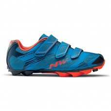 Northwave Scorpius 2 Plus Cycling Shoes Blue Lobster Orange
