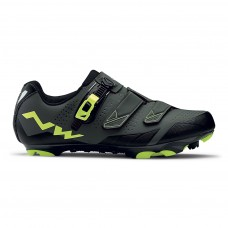 Northwave Scream 2 SRS Cycling Shoes Black Grey Yellow Fluo