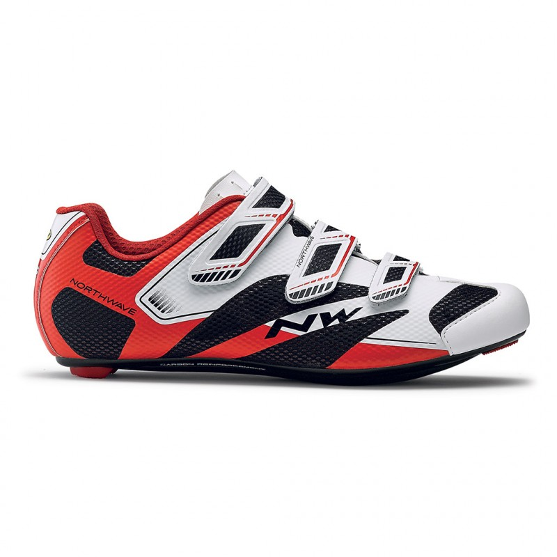 Northwave Sonic 2 Cycling Shoes White Black Red