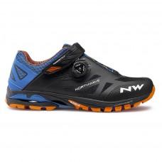 Northwave Spider Plus 2 Cycling Shoes Black Blue Orange