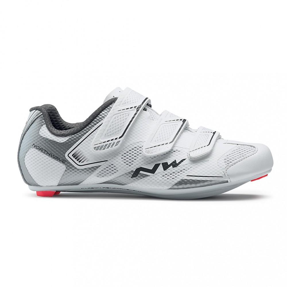 Women Cycling Shoes White Silver