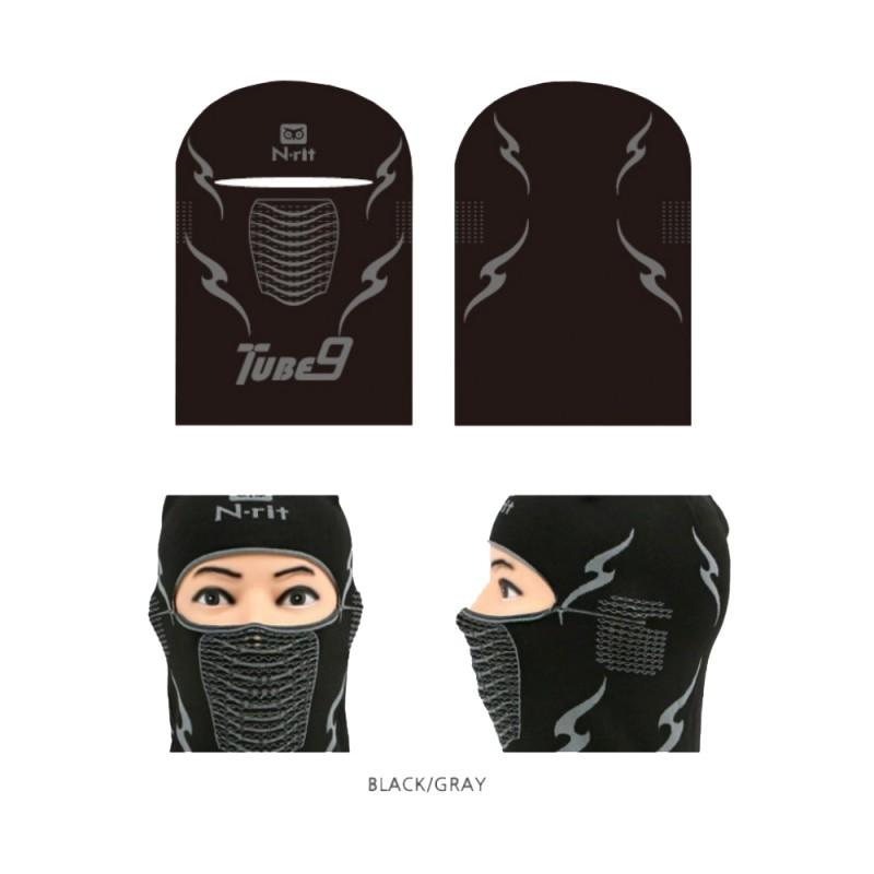 N-Rit Tube 9 Balaclava Headwear Black Grey