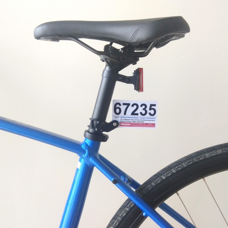 Audax India Bicycle Number Plate for BRM