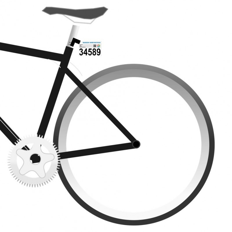 Bicycle Number Plate for Race and Triathlon