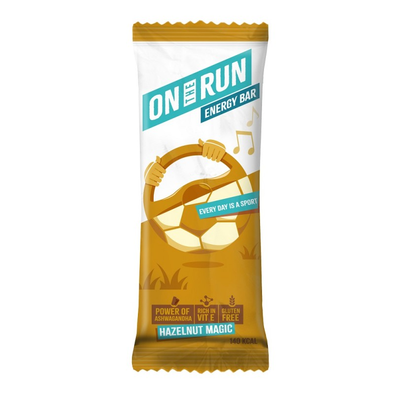 On The Run Hazelnut Magic Energy Bar