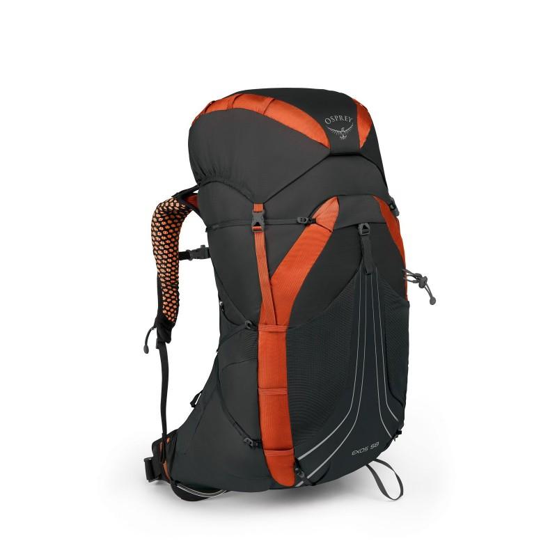 Osprey Exos 58 Ultralight Travel Backpack Blaze Black