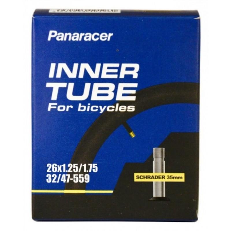 Panaracer Standard 26x1.25-1.75 Schrader Valve Cycle Inner Tube 35mm