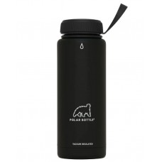Polar Thermaluxe Insulated SS Water Bottle-Powder Coat Black (Simple Cap)-21oz 620ml