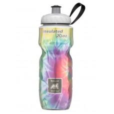 Polar Insulated Sports Water Bottle-Tie-Dye Rainbow-20oz 590ml
