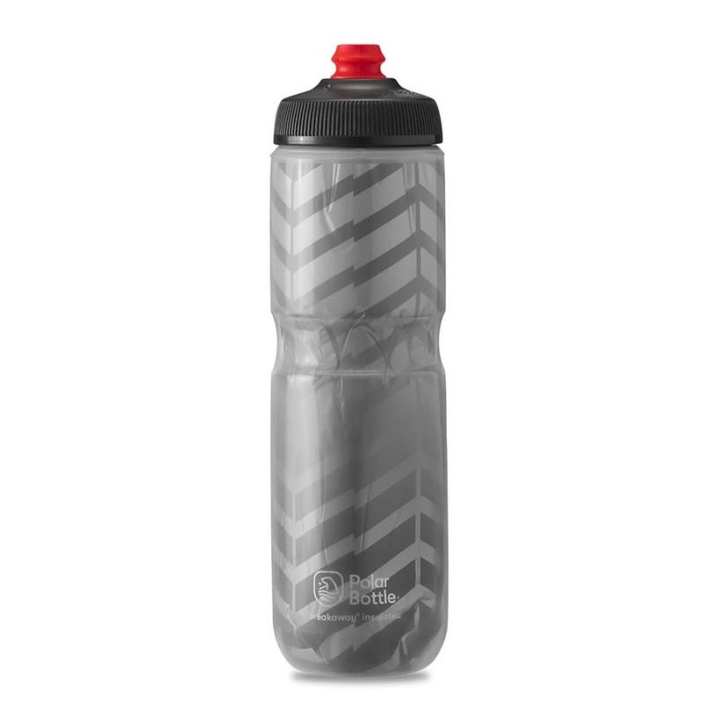 Polar Breakaway Bike Water Bottle Bolt Charcoal/Silver Insulated 710ml