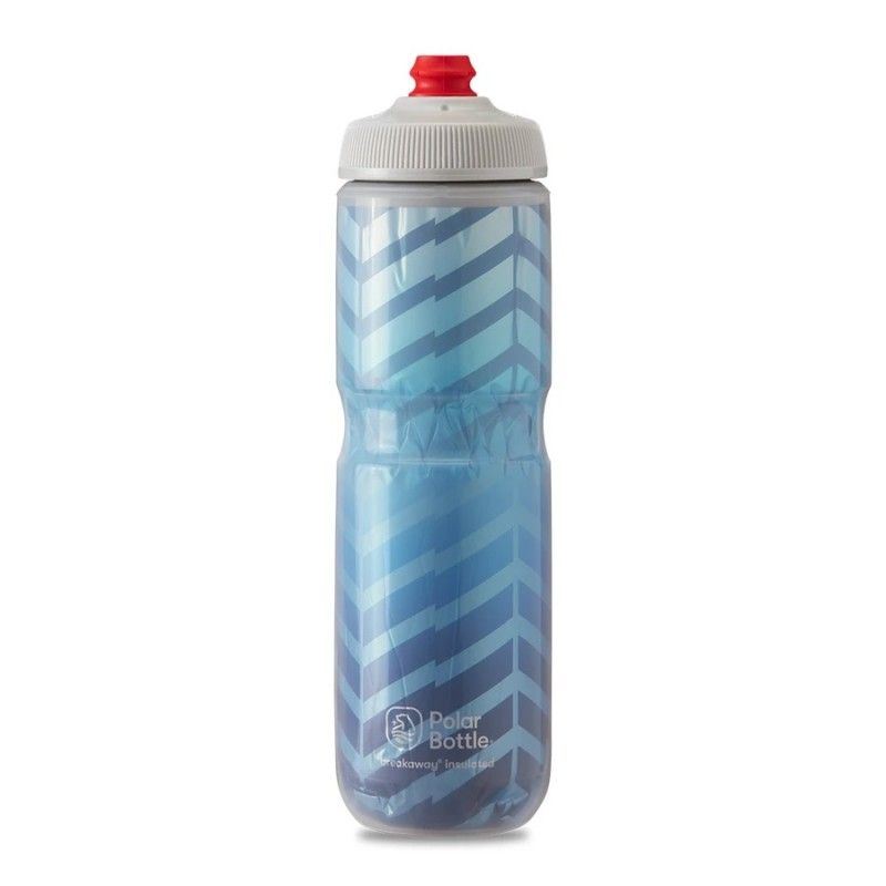 Polar Breakaway Bike Water Bottle Bolt Cobalt Blue/Silver Insulated 710ml