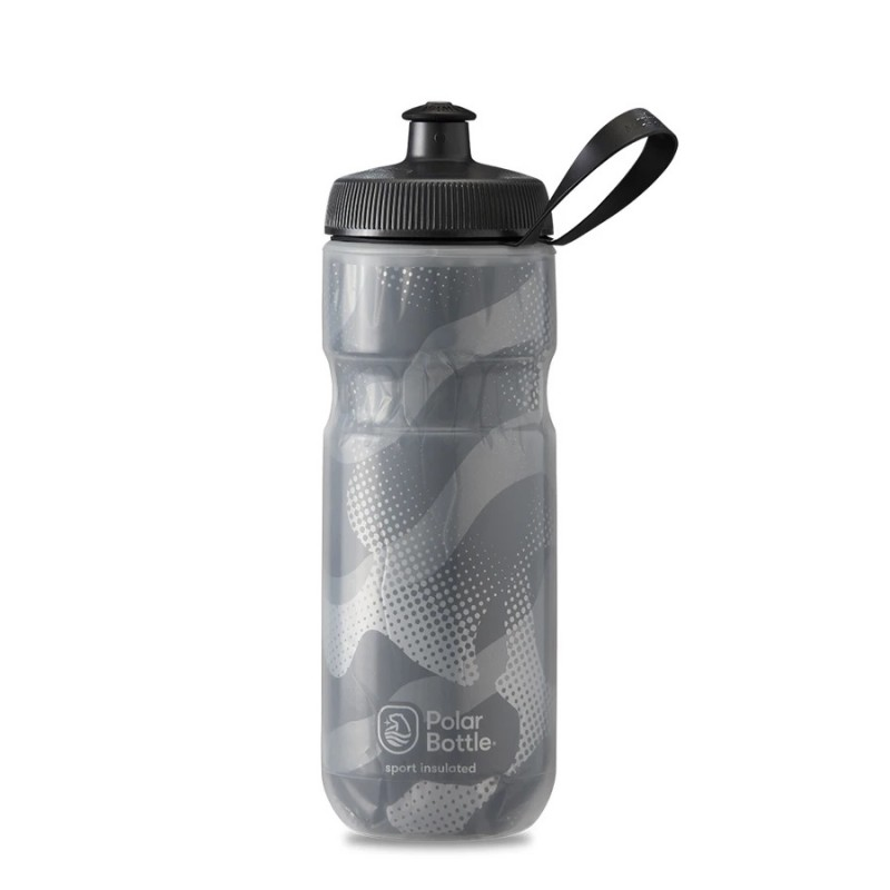 Polar Sport Insulated Water Bottle Contender Charcoal/Silver 590ml