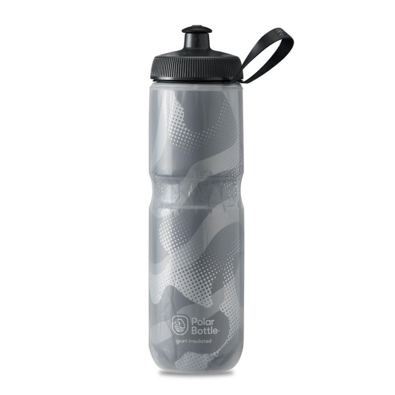 Polar Sport Insulated Water Bottle Contender Charcoal/Silver 710ml