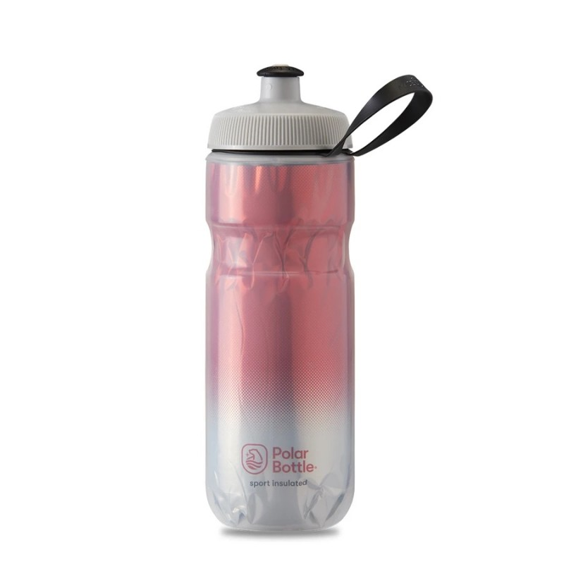 Polar Sport Insulated Water Bottle Fade Red/Silver 590ml